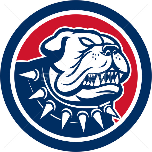Angry Bulldog Dog Mongrel Head Mascot Stock photo © patrimonio