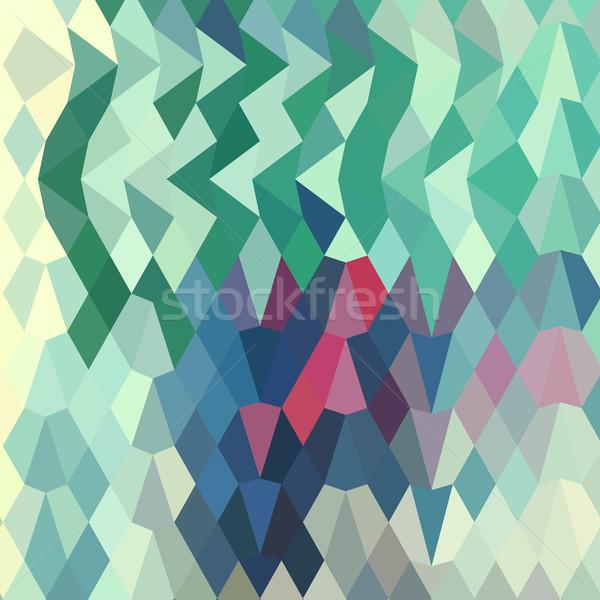 Myrtle Green Abstract Low Polygon Background Stock photo © patrimonio
