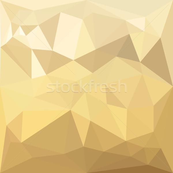 Burlywood Brown Abstract Low Polygon Background Stock photo © patrimonio