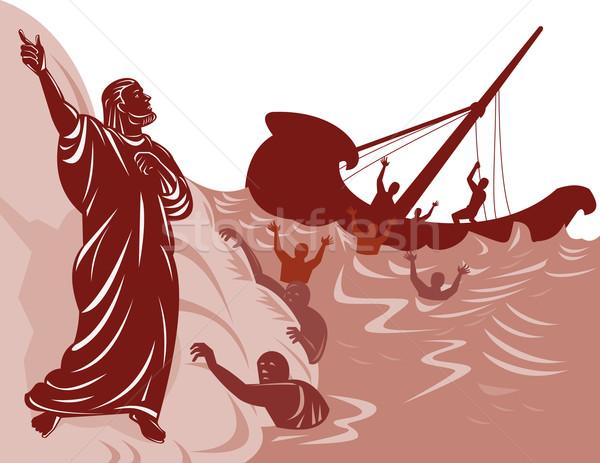 Gemi enkazı örnek insanlar adam ayakta Stok fotoğraf © patrimonio