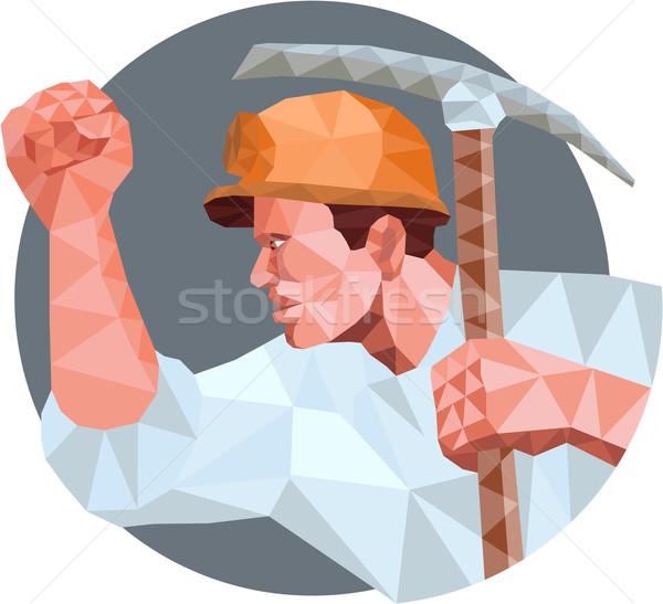 斧 こぶし 低い ポリゴン スタイル ストックフォト © patrimonio