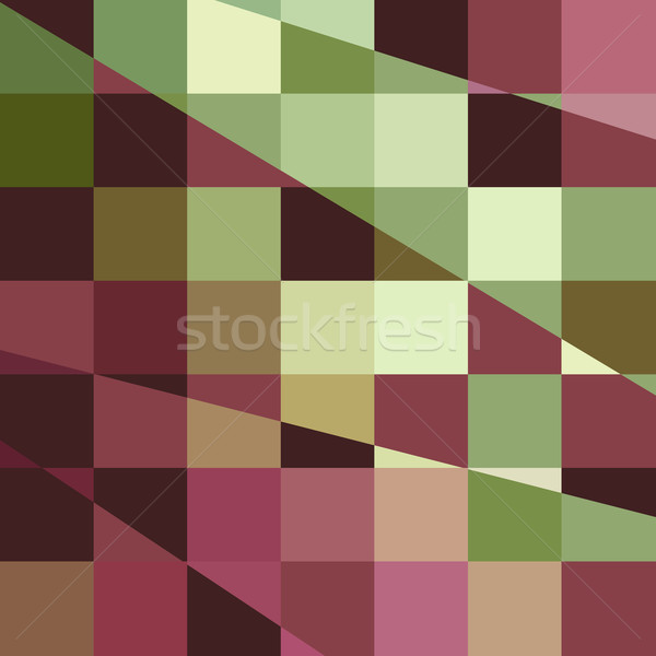 Deep Tuscan Red Purple and Green Abstract Low Polygon Background Stock photo © patrimonio