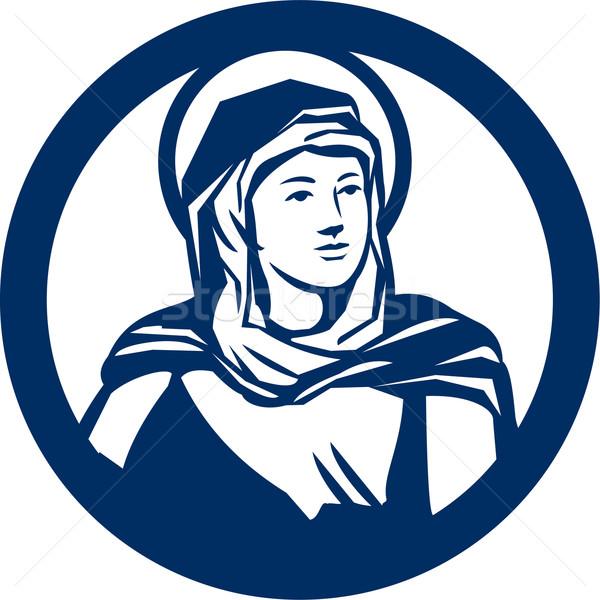 Blessed Virgin Mary Circle Retro Stock photo © patrimonio