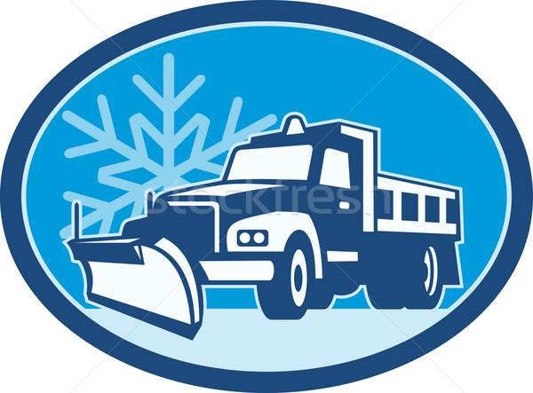Snow Plow Truck Retro  Stock photo © patrimonio