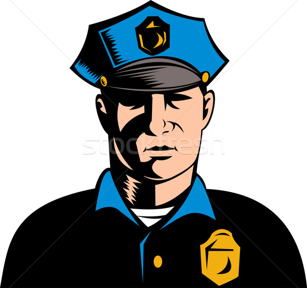 Rendőr rendőrtiszt illusztráció férfi férfi Stock fotó © patrimonio