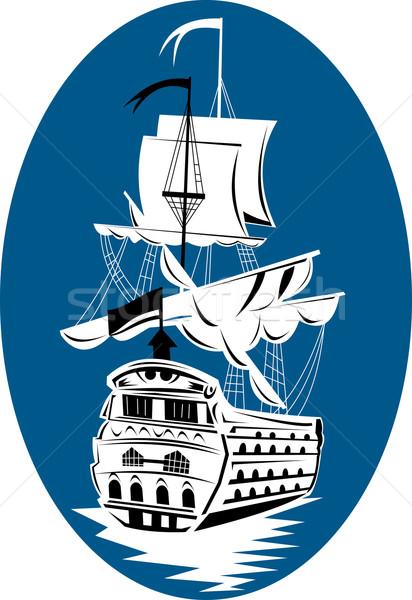 galleon sailing ship at sea Stock photo © patrimonio