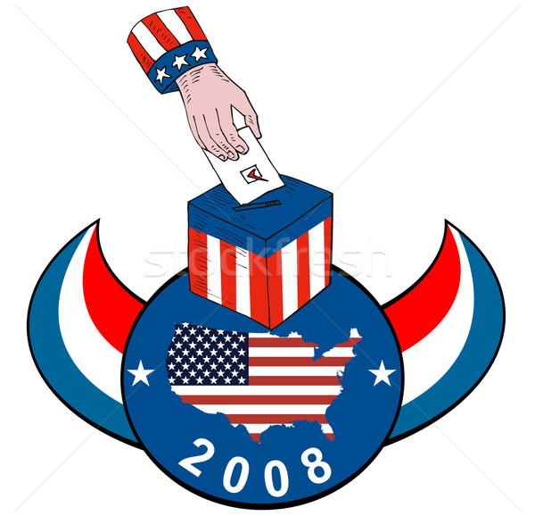 Americano elezioni scrutinio finestra retro Foto d'archivio © patrimonio