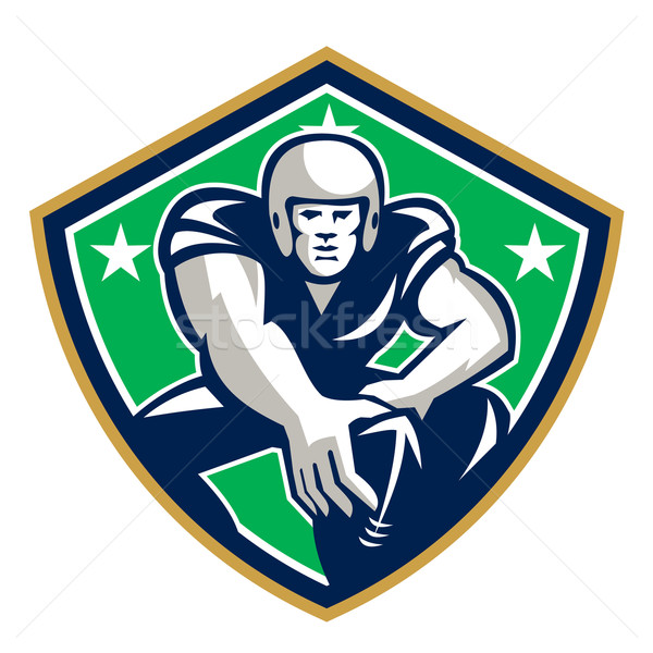 American Football Center Snap Front Shield Stock photo © patrimonio