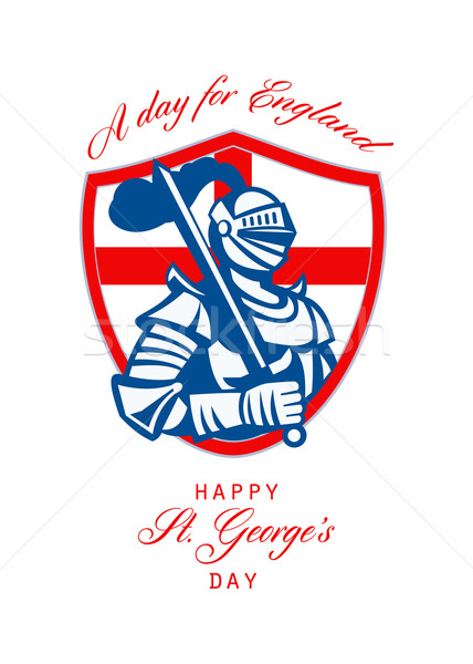 Happy St George A Day for England Greeting Card Stock photo © patrimonio