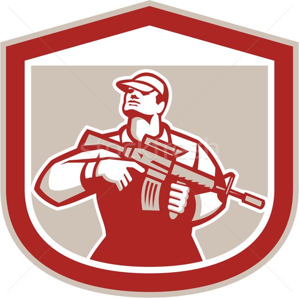 солдата военных нападение винтовка гребень Сток-фото © patrimonio