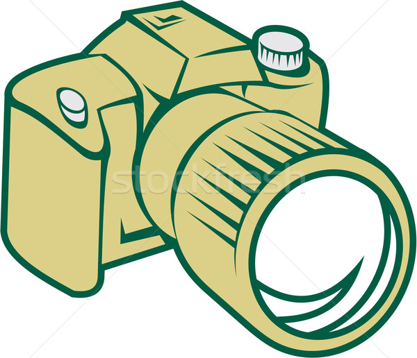 Camera dslr retro illustratie Stockfoto © patrimonio