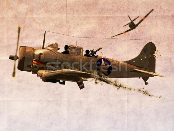 Dauntless Dive Bomber Plane Stock photo © patrimonio