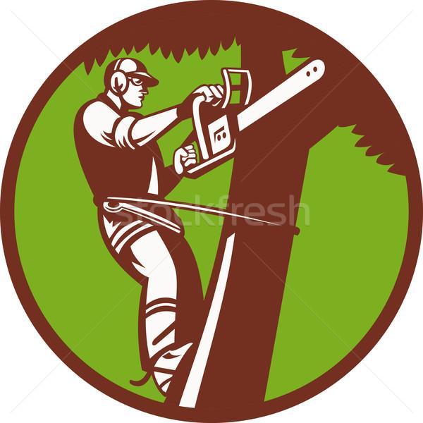 Arborist Tree Surgeon Trimmer Pruner Stock photo © patrimonio