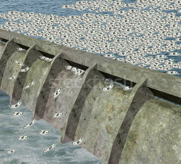 water dam with money flowing water Stock photo © patrimonio