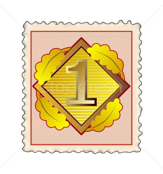 Number 1 in Diamond Stamp Stock photo © patrimonio