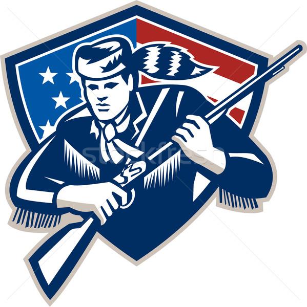 Amerykański patriota gwiazdki banderą ilustracja Zdjęcia stock © patrimonio