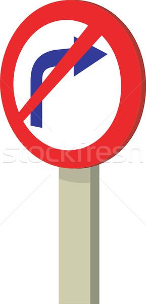 No Right Turn Traffic Road Sign Stock photo © patrimonio