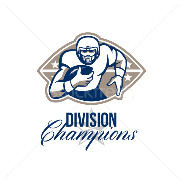 American Football Runningback Division Champions Stock photo © patrimonio