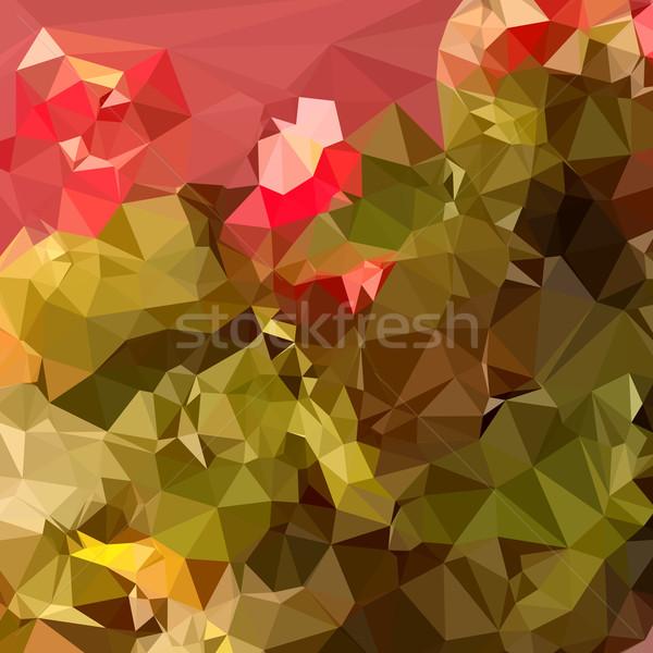 Dark Pastel Green Abstract Low Polygon Background Stock photo © patrimonio