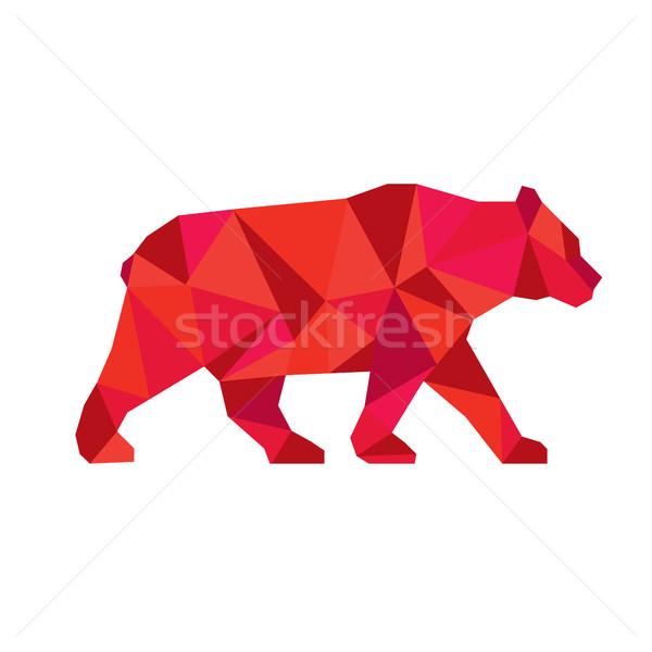 Americano nero orso piedi basso poligono Foto d'archivio © patrimonio