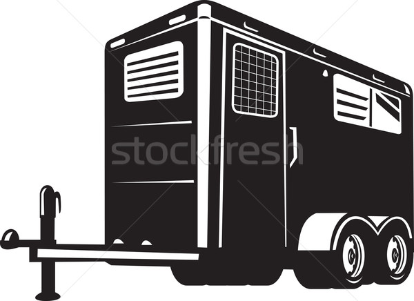 horse trailer viewed from low angle  Stock photo © patrimonio