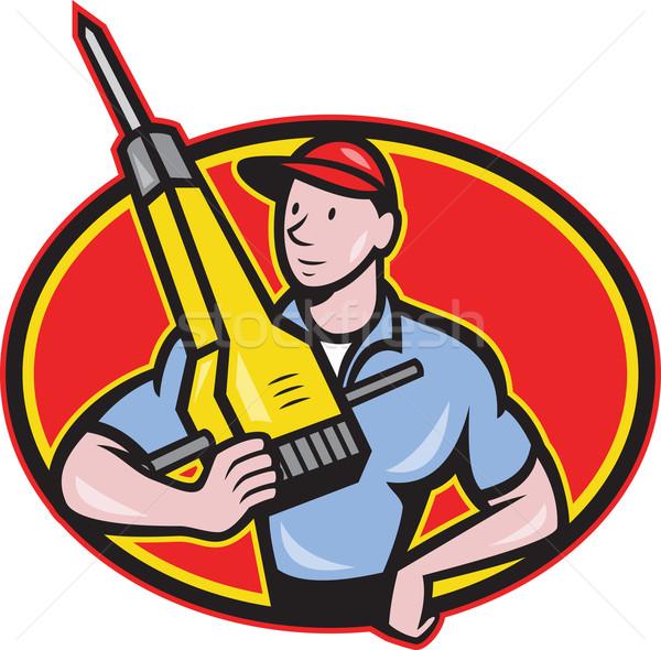 Construction Worker Jackhammer Pneumatic Drill Stock photo © patrimonio