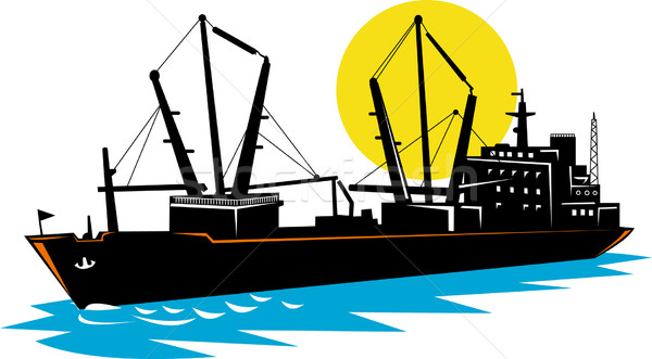 cargo ship at sea Stock photo © patrimonio