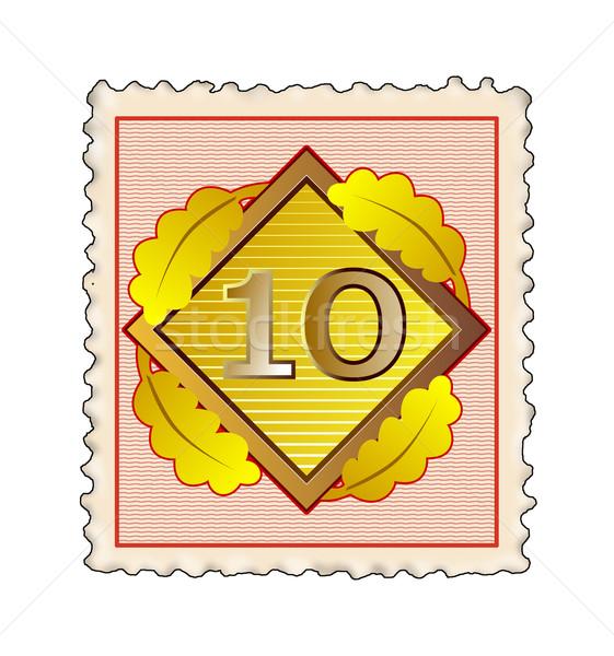 Number 10 Diamond Stamp Stock photo © patrimonio