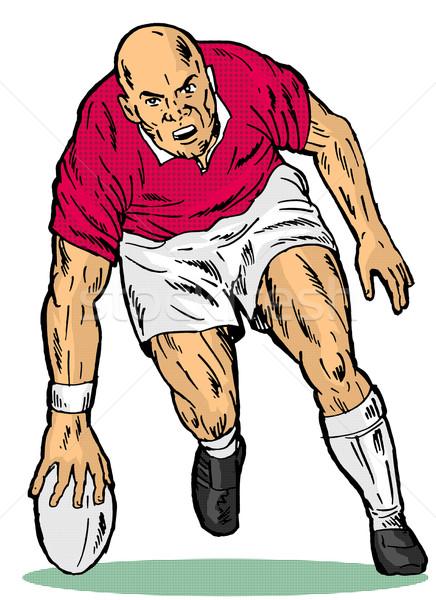 Rugby player score try Stock photo © patrimonio