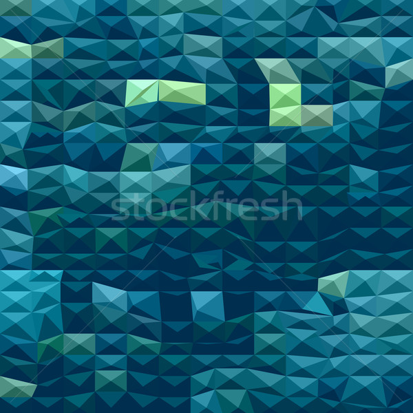Blau abstrakten niedrig Polygon Stil Illustration Stock foto © patrimonio