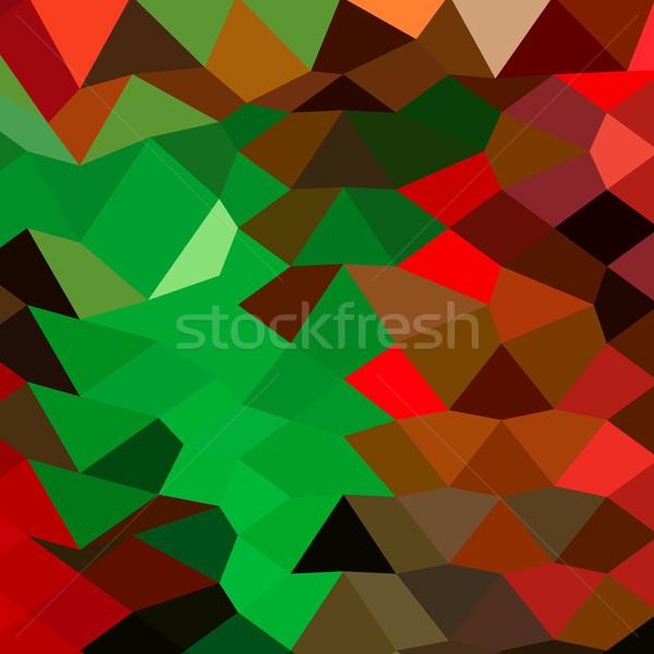 Bice Green Abstract Low Polygon Background Stock photo © patrimonio