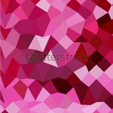 ピンク 抽象的な 低い ポリゴン スタイル 実例 ストックフォト © patrimonio