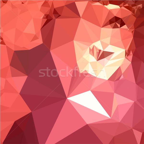 Kırmızı soyut düşük çokgen stil örnek Stok fotoğraf © patrimonio