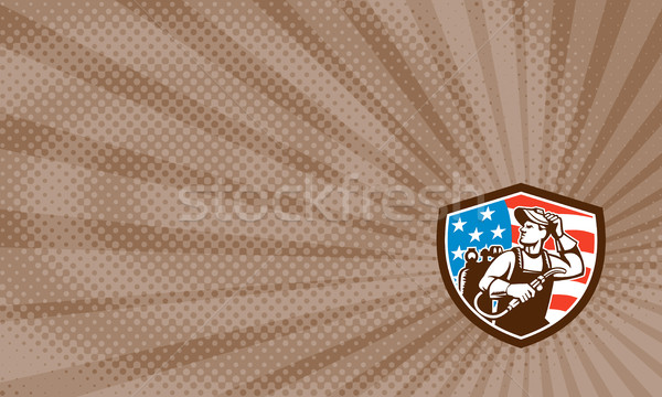 Welder USA Flag Crest  Stock photo © patrimonio