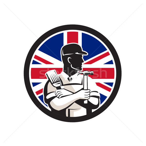 İngilizler uzman İngiliz bayrağı bayrak ikon Stok fotoğraf © patrimonio