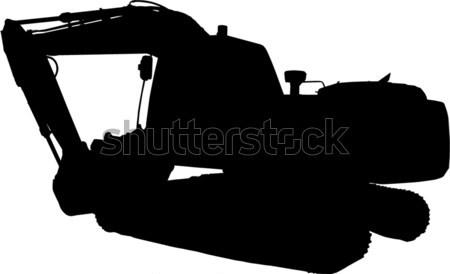 construction mechanical digger excavator silhouette Stock photo © patrimonio