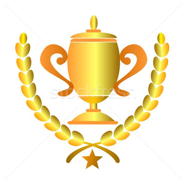 Campeonato copo laurel ilustração troféu folhas Foto stock © patrimonio