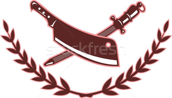 Nóż ostrze temperówka ilustracja odizolowany biały Zdjęcia stock © patrimonio