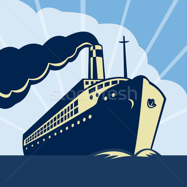 Oceaan boot schip illustratie zee water Stockfoto © patrimonio