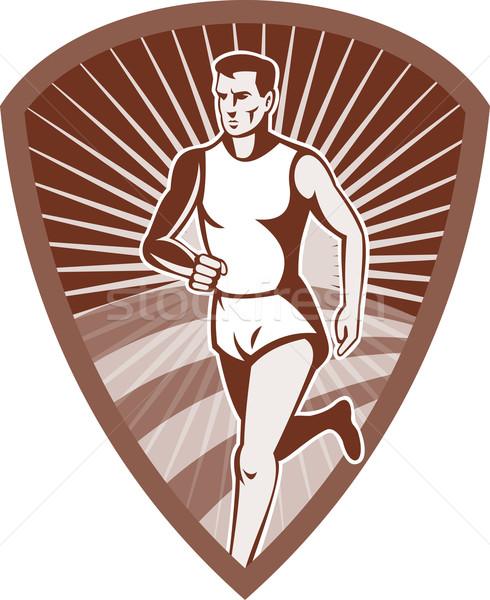 マラソン 選手 スポーツ ランナー シールド 実例 ストックフォト © patrimonio