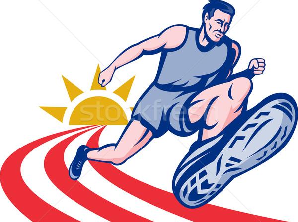 Marathon runner on track  Stock photo © patrimonio