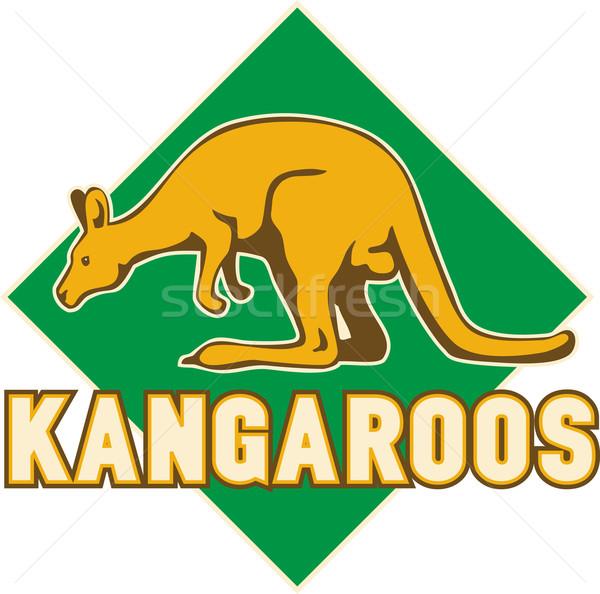 kangaroo sports mascot shield Stock photo © patrimonio
