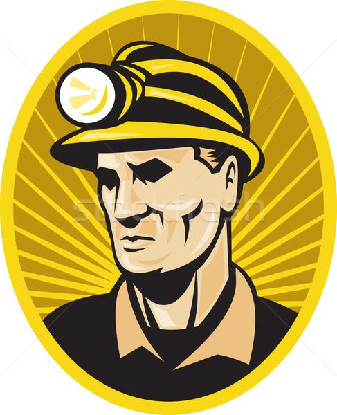 coal miner worker front Stock photo © patrimonio