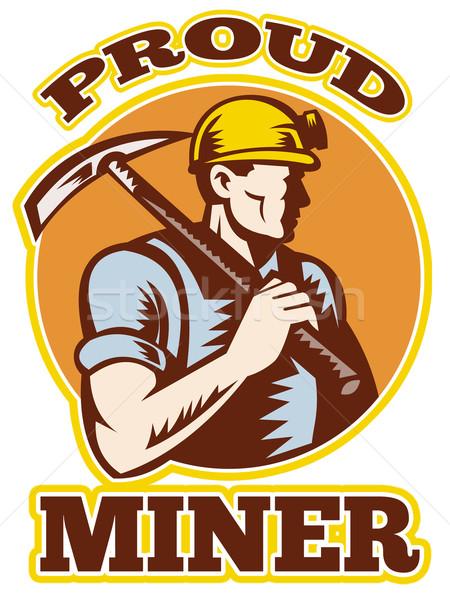 coal miner pick axe retro Stock photo © patrimonio