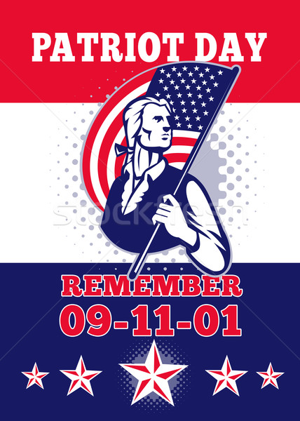 American Patriot Day Poster 911 Greeting Card Stock photo © patrimonio
