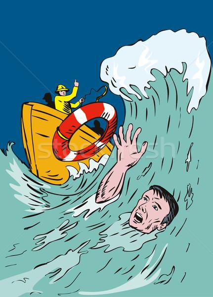 Man Drowning Stock photo © patrimonio