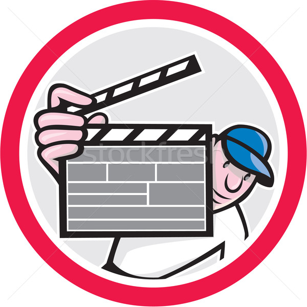 Movie Director Holding Clipboard Cartoon Stock photo © patrimonio