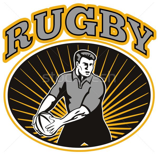 rugby player passing ball  Stock photo © patrimonio