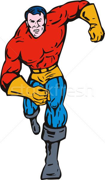 Superhero running forward Stock photo © patrimonio