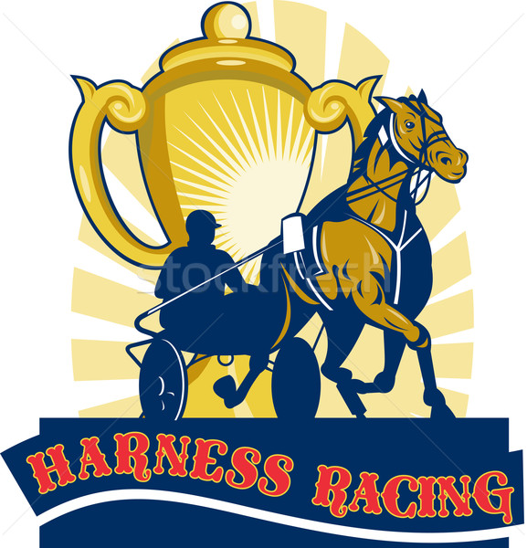 Harness horse race racing championship cup  Stock photo © patrimonio
